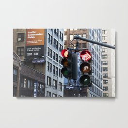 NYC Traffic Control Metal Print