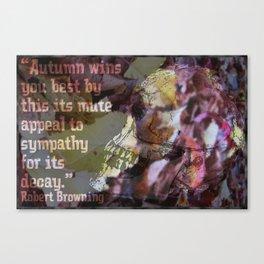 Autumn Decay II Canvas Print