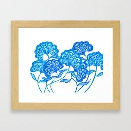 Blue Bloom Framed Art Print