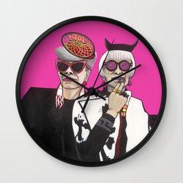 Fashionistas in NYC Wall Clock