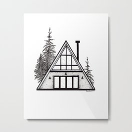 modern a frame Metal Print