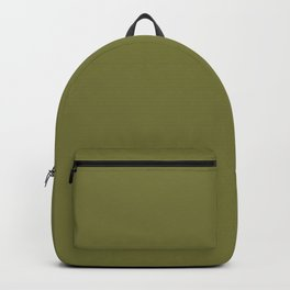 Overgrown ~ Dried Olive Green Backpack