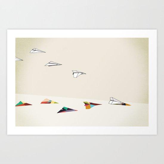 Walking Shadow, Paper Planes Art Print