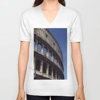rome V-neck T-shirts featuring Rome by  Eggplant