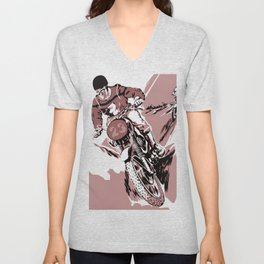 Motocross, the crosser Unisex V-Neck
