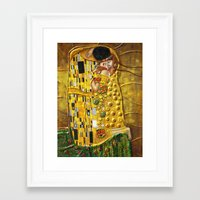 klimt Framed Art Prints featuring My Klimt by Müge Başak