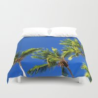 coconut wishes Duvet Covers featuring Coconut Peaks by Tom Lee