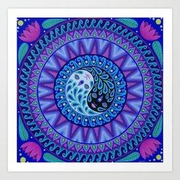YinYang Mandala, by Soozie Wray Art Print