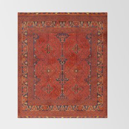 N194 - Red Berber Atlas Oriental Traditional Moroccan Style Throw Blanket