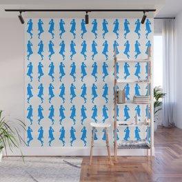 Light Blue Bold Mod GoGo Girls Wall Mural