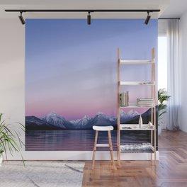 pastel mountain lake sunset Wall Mural