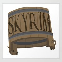 skyrim Art Prints featuring SKYRIM: BUCKET by MDRMDRMDR