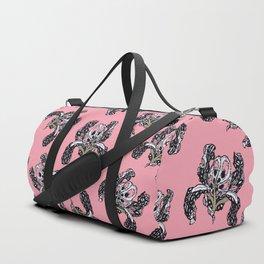T.F TRAN PINK BUTTERFLY IRIS PINK EDITION Duffle Bag