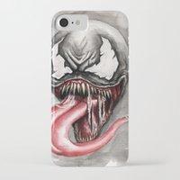 venom iPhone & iPod Cases featuring venom by rchaem