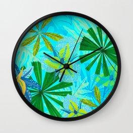 My blue abstract Aloha Tropical Jungle Garden Wall Clock