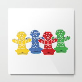 Candy Board Game Figures Metal Print