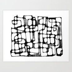 Follow the Line I  Art Print