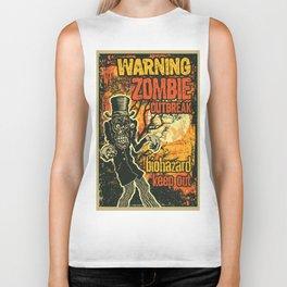 Zombi Biohazard Illustration Biker Tank