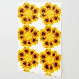 Spinning Sunflowers Wallpaper