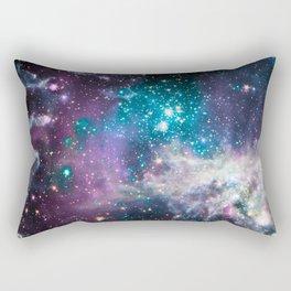 Lavender Teal Star Nursery Rectangular Pillow