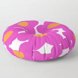 PINKORANGE PETALS Floor Pillow