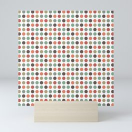 Small retro polka dots Mini Art Print