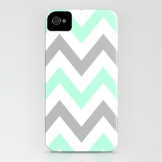 MINT & GRAY CHEVRON iPhone (4, 4s) Slim Case