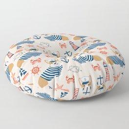 Corgi nautical sailor dog cute pet costume portrait welsh corgis Floor Pillow