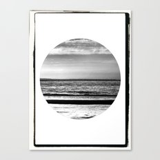 Black and White Beach Canvas Print