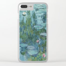 Water Lilies 2 Clear iPhone Case
