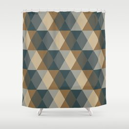 Caffeination Geometric Hexagonal Repeat Pattern Shower Curtain