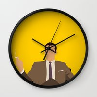mad men Wall Clocks featuring Don Draper - Mad Men by Tom Storrer