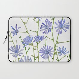 blue chicory watercolor Laptop Sleeve