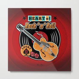 Heart of Rock 'n Roll Metal Print