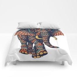 Ornate Elephant v2 (Color Version) Comforters