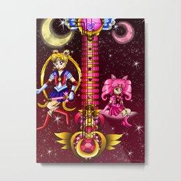 Fusion Sailor Moon Guitar #1 - Sailor Moon & Sailor Chibi Moon Metal Print