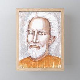 Guru Swami Sri Yukteswar Giri portrait Framed Mini Art Print