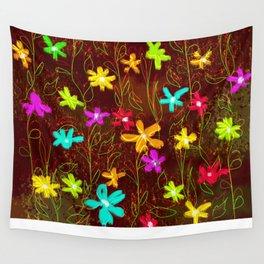 Roadside Wildflowers Wall Tapestry