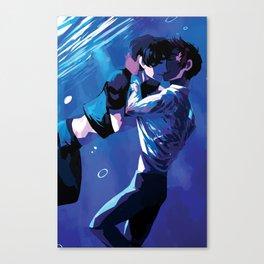 Underwater kiss Canvas Print