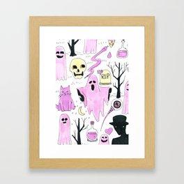 ghost aesthetic Framed Art Print