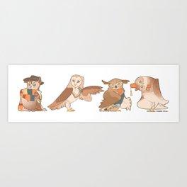Doctor Hoo Art Print