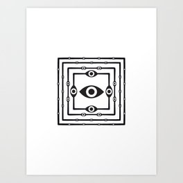 Supper and Eyes and Alien 2 Art Print