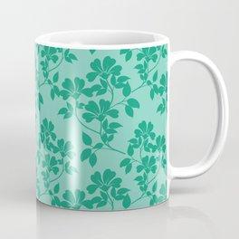 Emerald Green Leaves Coffee Mug