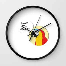 Used to be Noisy But Funny Talking Bird Tshirt Design Have you heard Wall Clock