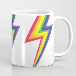 Rainbow Bolts Coffee Mug