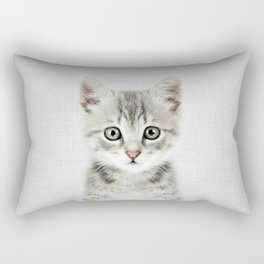 Kitten - Colorful Rectangular Pillow