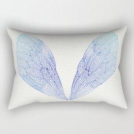Periwinkle Ombré Cicada Wings Rectangular Pillow