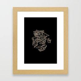 Sea Beads Framed Art Print