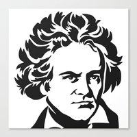 beethoven Canvas Prints featuring Beethoven by b & c