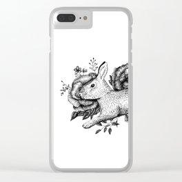 Bunny - Go Vegan Clear iPhone Case